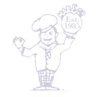 Fresh Bread - Large White Barm Cakes (Bin Lids) x2 (pkt)